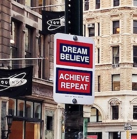 Dream Believe Achieve Repeat artwork